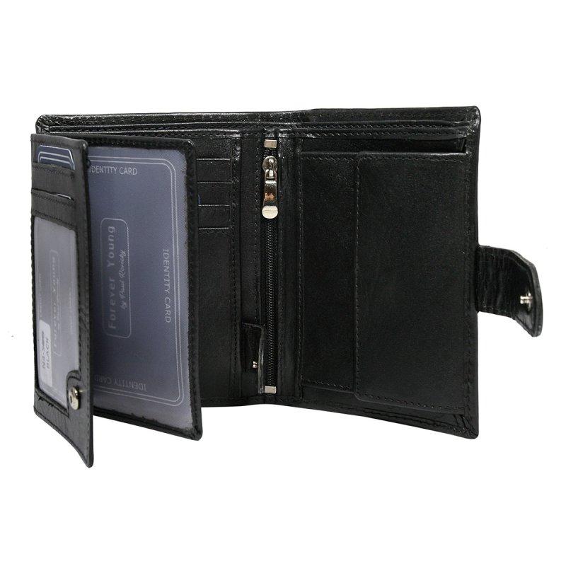Pánská kožená prostorná peněženka Ludovít černá
