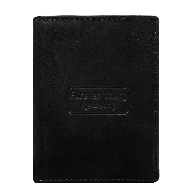 Pánská prostorná kožená peněženka Bernard černá