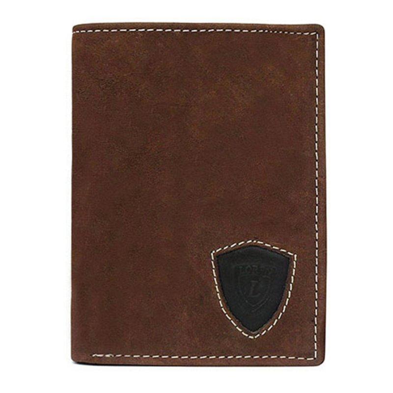 Pánská kožená peněženka s prošitím Ludvík hnědá