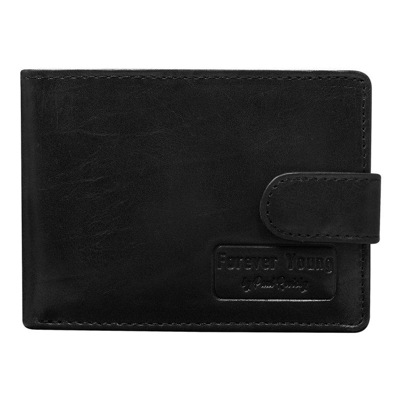 Pánská kožená peněženka se zapínáním Mojmír černá