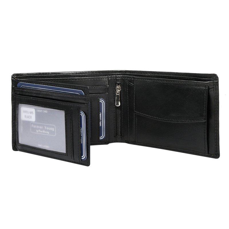 Pánská stylová kožená peněženka Vavřinec černá