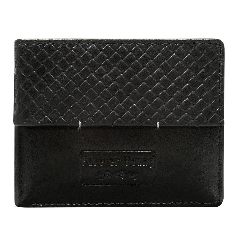 Pánská módní kožená peněženka Roman černá