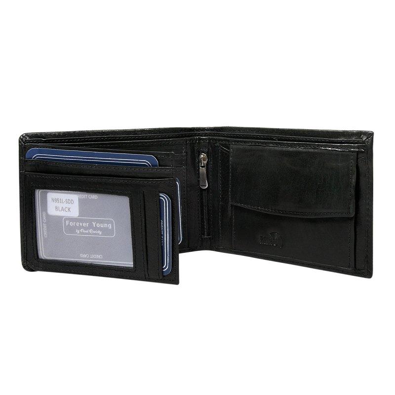 Pánská prostorná kožená peněženka Soběslav černá