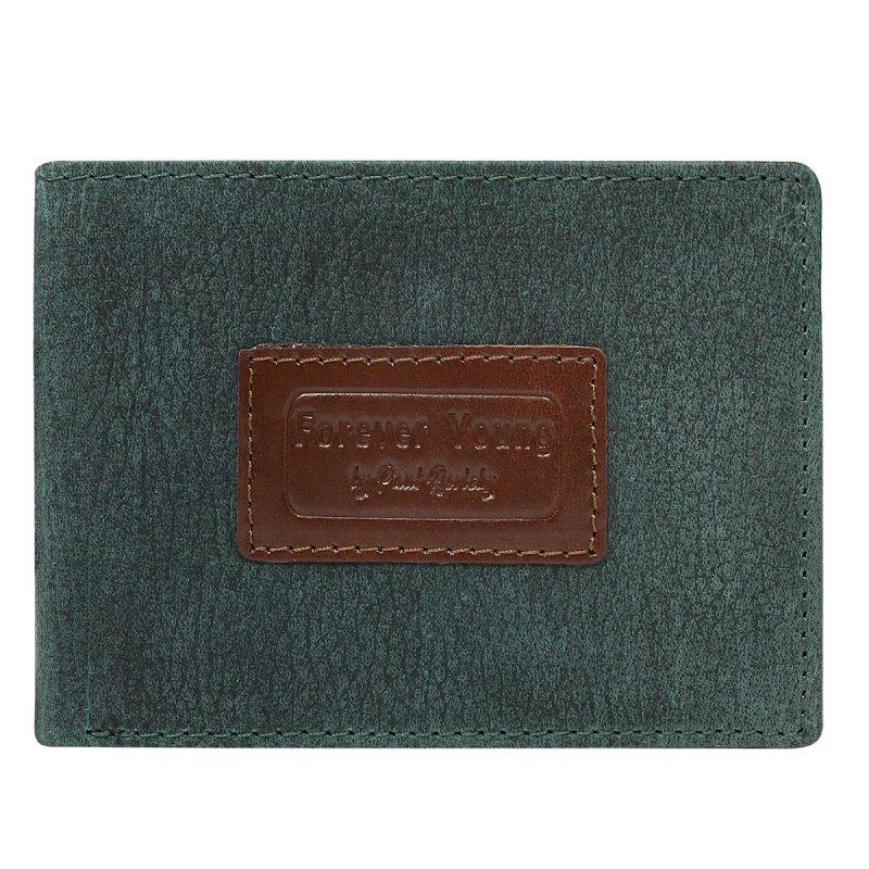 Pánská módní prostorná peněženka Kristinán zelená