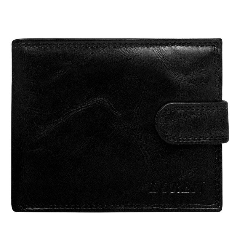 Pánská kožená peněženka se zapínáním Dominik černá