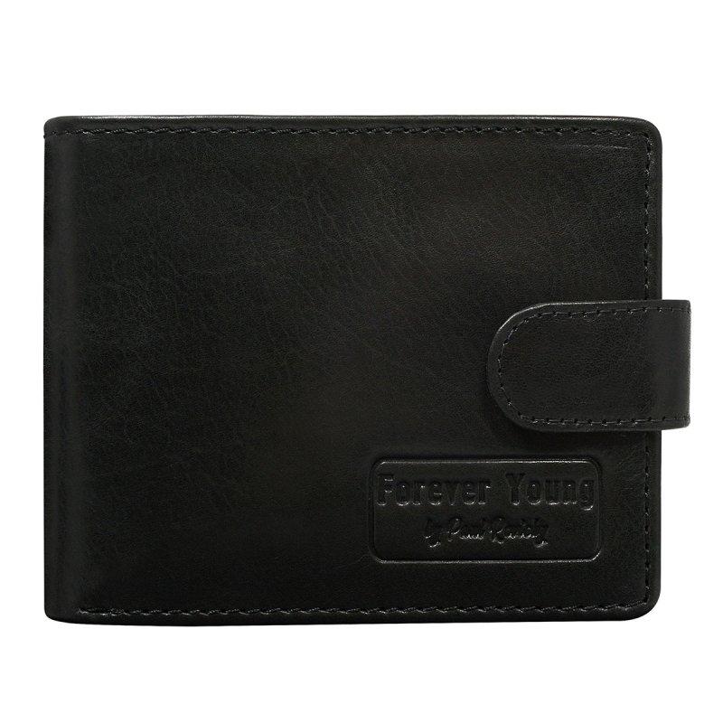 Pánská kožená peněženka se zapínáním Gustav černá