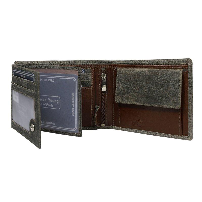 Módní pánská kožená peněženka Krištof šedá