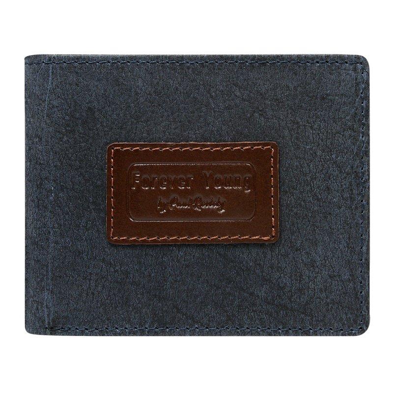 Módní pánská kožená peněženka Krištof modrá