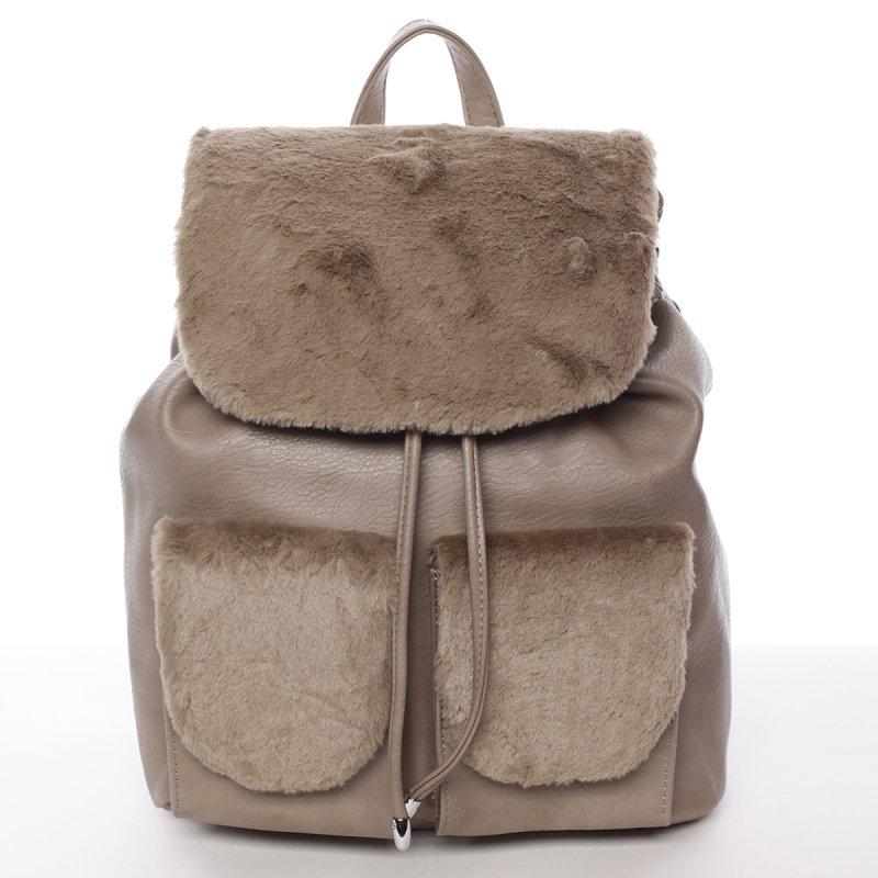 Elegantní dámský batoh s kožíškem Šantel