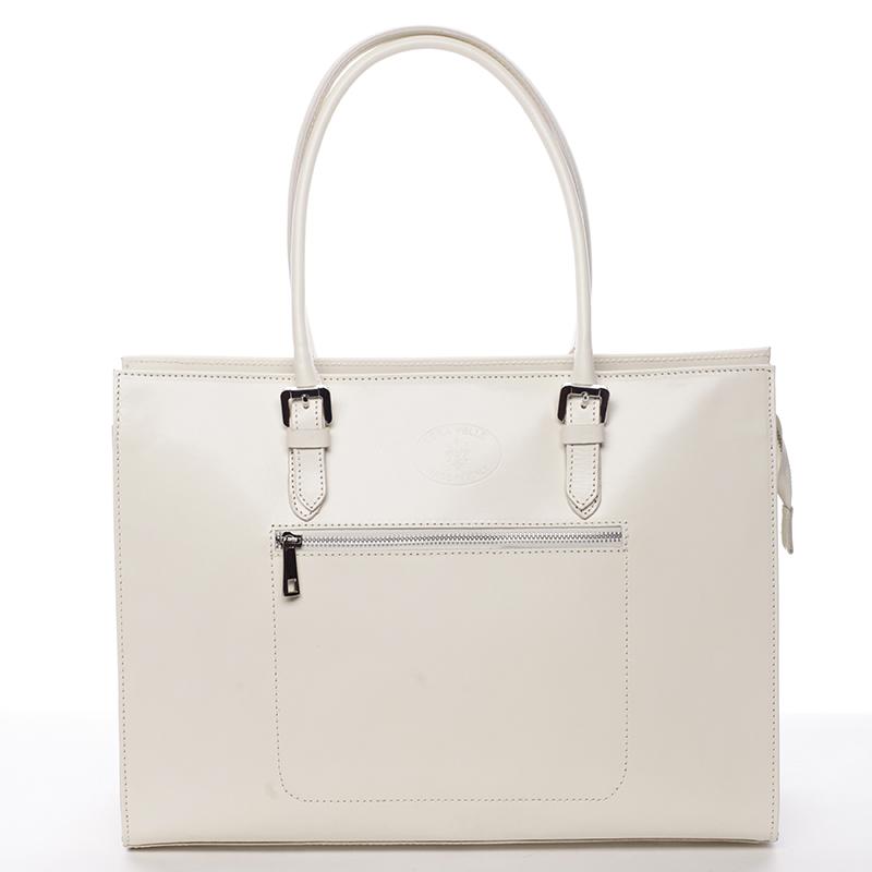 Elegantní kožená kabelka béžové barvy Libertad 9165f522dcb